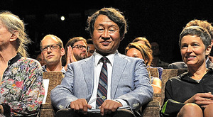 ベネチア国際映画祭で上映に立ち会う久保田信さん=イタリア・リド島