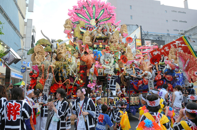 ユネスコの無形文化遺産への登録が確実となった八戸三社大祭の山車=7月、八戸市