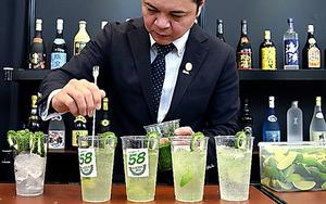 泡盛カクテル「58KACHA―SEA」=那覇市