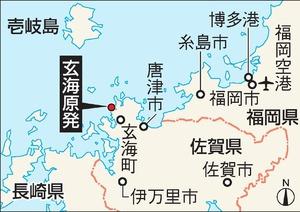 玄海原発の地図