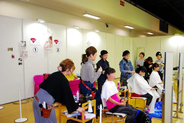 昨年の「おしゃれランナーブース」=神戸市中央区、神戸マラソン実行委員会提供