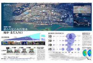 インフォグラフィックス部門の最優秀賞を受賞した「福島第一原発 終わり見えぬ汚染水」=加藤啓太郎作製