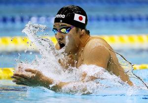 男子400メートル個人メドレーで優勝した瀬戸大也=西畑志朗撮影