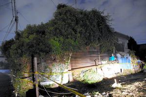 男女3人の遺体が見つかった住宅=岐阜市茜部本郷2丁目