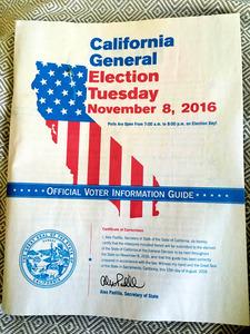 選挙前に配られる「有権者の手引」