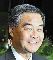 香港の梁振英行政長官