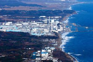 東京電力福島第一原発=22日午前10時53分、福島県、川村直子撮影