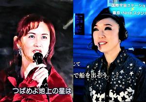 中島みゆき(左)と松任谷由実=いずれもNHK「SONGS」から