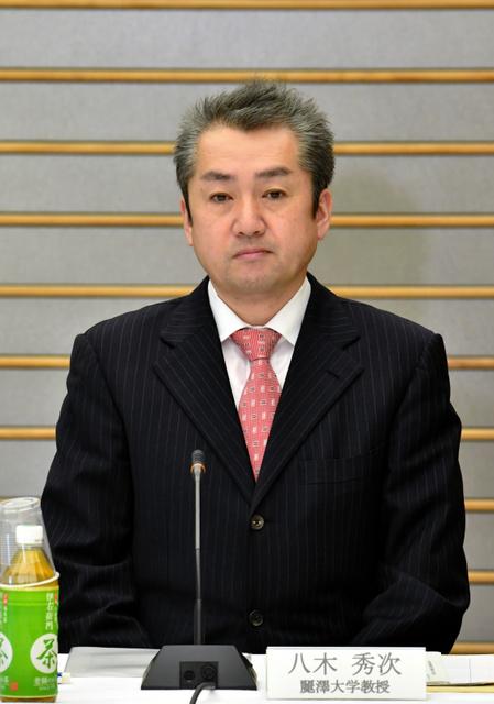 麗沢大の八木秀次教授=30日午前9時、首相官邸、恵原弘太郎撮影