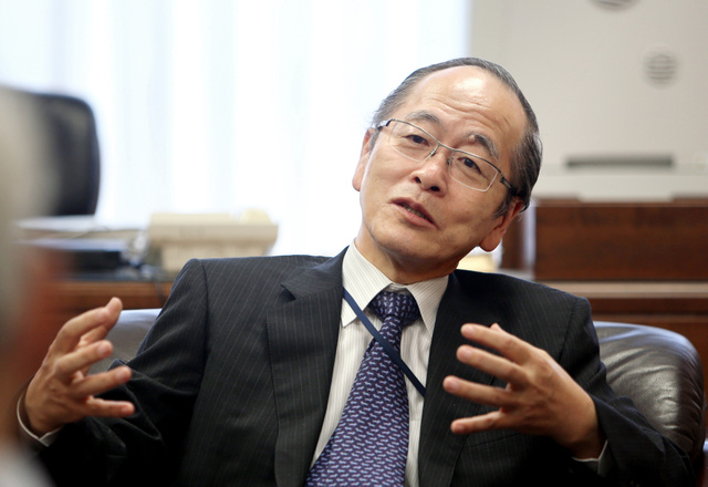 証券取引等監視委員会委員長の佐渡賢一さん=林紗記撮影