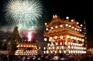 「秩父祭」の山車=2015年12月3日、埼玉県秩父市