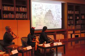 妄想会議では「動く!熊本城」というアイデアも提案された=熊本市中央区