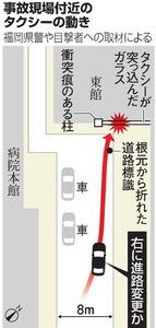 事故現場付近のタクシーの動き