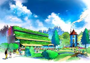 2019年春オープン予定の「ムーミンバレーパーク」のムーミン屋敷のイメージ画像((C))Moomin CharactersTM)