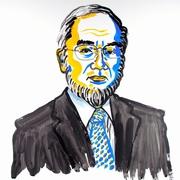 ノーベル賞大隅さん「あごひげが特徴的」 似顔絵画家