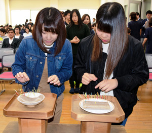 香川)「鍼」に感謝込め供養の神事 四国医療専門学校