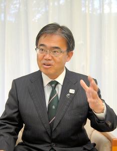 アジア大会への戦略を語る大村秀章知事