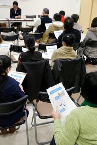 来年4月に開園する保育所について、事業者と地域住民の話し合いが行われた=10日、名古屋市北区、吉本美奈子撮影