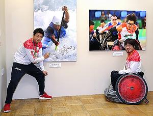 羽根田卓也さん(左)と池崎大輔さん