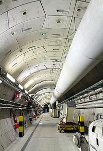 地下490メートルに作られたトンネル=仏・ビュール村のビュール地下研究所