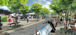 水木しげるロードの完成予想図=境港市提供