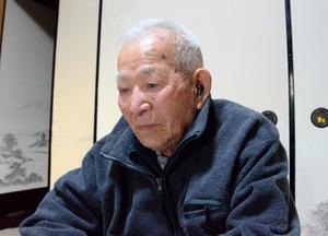 門田米吉さん=11月、高知県室戸市、西村奈緒美撮影