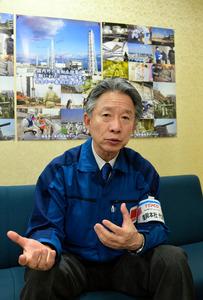 2016年を振り返る東京電力福島復興本社の石崎芳行代表