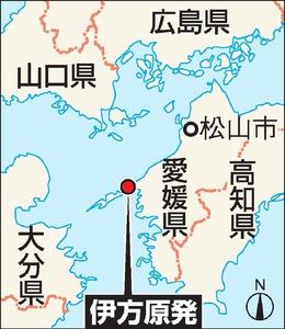 伊方原発の地図