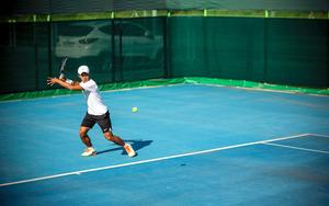 2016年10月、テニスの練習をするイ・ダクヒ=Jean Chung/(C)2016 The New York Times
