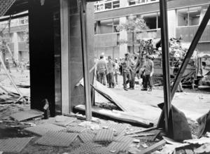 1974年8月30日午後、東京・丸の内で起きた三菱重工ビル爆破事件の発生当時の様子