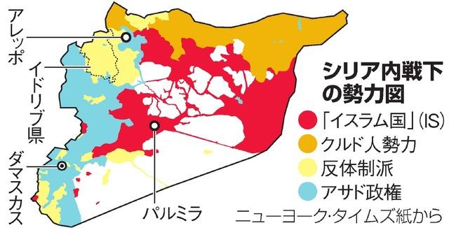 シリア内戦下の勢力図