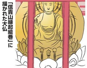 「信貴山縁起絵巻」に描かれた大仏