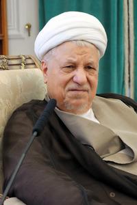 イランのラフサンジャニ元大統領=14年7月、テヘラン、神田大介撮影
