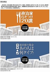 朝日新聞デジタルの政治資金特集ページ