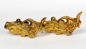 「金銅製龍頭」=宗像大社蔵(展示は1月29日まで)