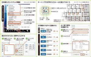 日本語入力システムの機能/キートップの文字の入力ルールを覚えておこう/読みのわからない漢字を入力する/文字種をすばやく変換する/よく使う語句を登録する<グラフィック・なかのりか>