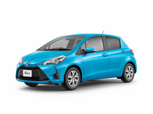 トヨタ自動車が発売するヴィッツのハイブリッドモデル=同社提供
