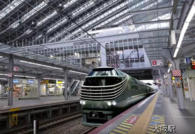 JR大阪駅を出発する「瑞風」のイメージ=JR西日本提供