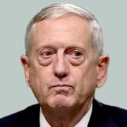 ワシントンで12日、米上院軍事委員会の公聴会で証言するジェームズ・マティス氏=AP