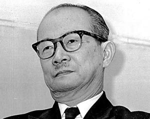 国の戦後補償政策を批判した末高信・早稲田大教授=1965年
