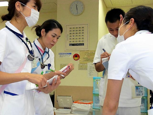 栃木県済生会宇都宮病院は看護師の業務分担を見直し、夜勤の短縮につなげた=宇都宮市