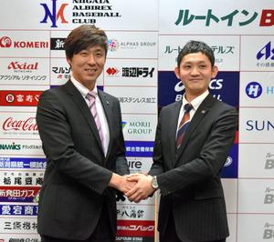 新潟)元巨人・加藤健さん、アルビBCのフロント入り