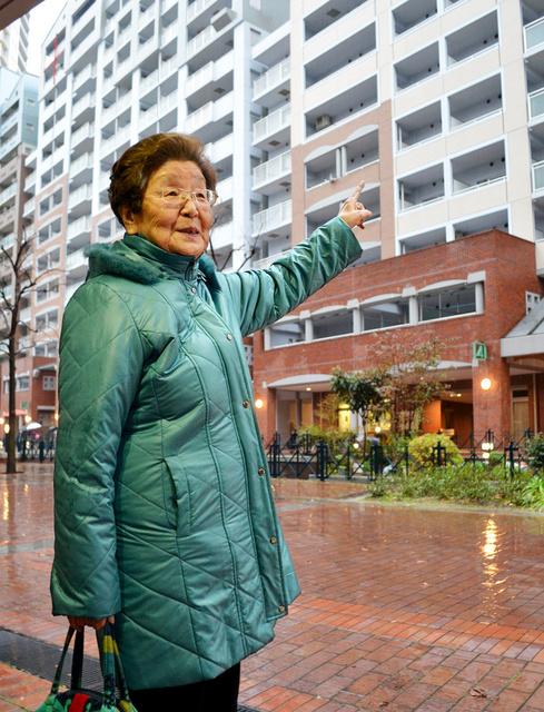 震災22年を「被告」として迎えた中村輝子さん。「まさか出て行けと言われるとは」=神戸市兵庫区