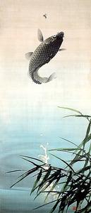 今尾景年「躍鯉図」(1912年、京都市美術館蔵)