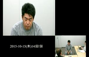 容疑者役(長井健一弁護士)が中心になっている映像。大阪弁護士会が実際に検察官が取り調べをする様子をもとに作った=同会提供