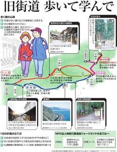 旧街道、歩いて学んで<グラフィック・戸田靖人>