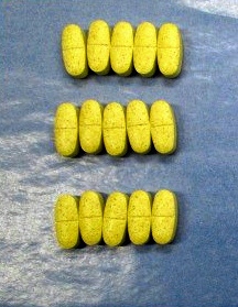 東京都内の卸売り販売業者で見つかったハーボニー配合錠の偽造品=東京都提供
