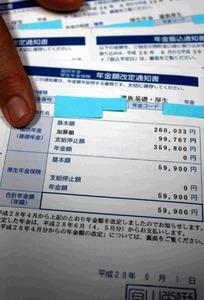 男性の子どもの1人あてに来た年金額の通知書。遺族基礎年金は「支給停止」とされ、受け取るのは年6万円弱の遺族厚生年金のみだ