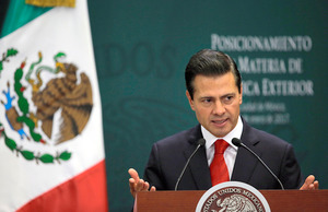 メキシコ大統領、トランプ氏に「対立も服従もしない」