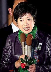 応援演説する小池百合子都知事=29日、東京・有楽町、飯塚晋一撮影